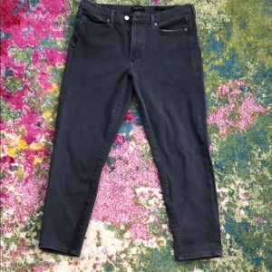 Banana Republic high rise gray skinny jeans